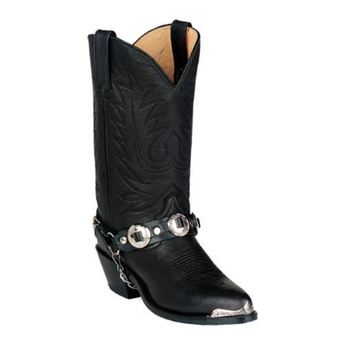 Women's Durango Boot RD560 11 Black Leather w/ Concho strap