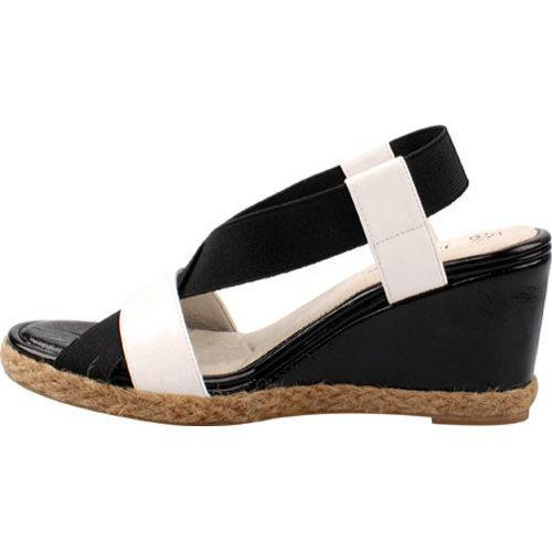 Women's J. Renee Halina Black Elastic/White Polyurethane