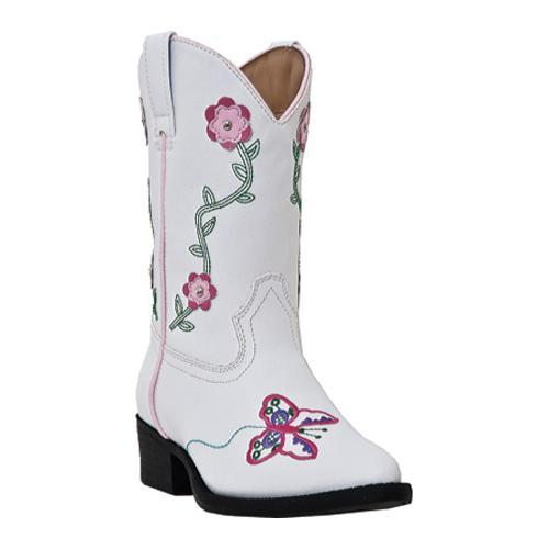 Girls' Laredo Flower Power White Polyurethane/Pink Flower