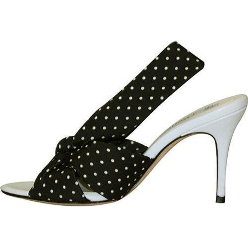 Women's J. Renee Savanna Black/White Polka Dot Fabric