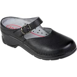 Women's Klogs LaJolla Black Print Leather