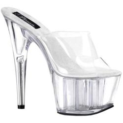 Women's Pleaser Adore 701 Clear/Clear