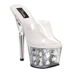 Pleaser Women's Adore 701FL Clear/White Flowers