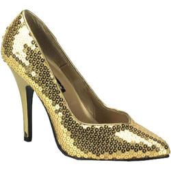 Women's Pleaser Seduce 420SQ Gold Sequins