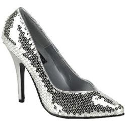 Pleaser Women's Seduce 420SQ Silver Sequins