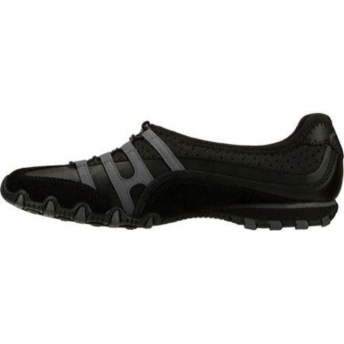 Women's Skechers Bikers Point Blank Black/Charcoal