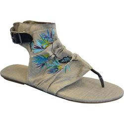 Women's Sun Luks by Muk Luks Cutout Gladiator Sandal Medium Grey