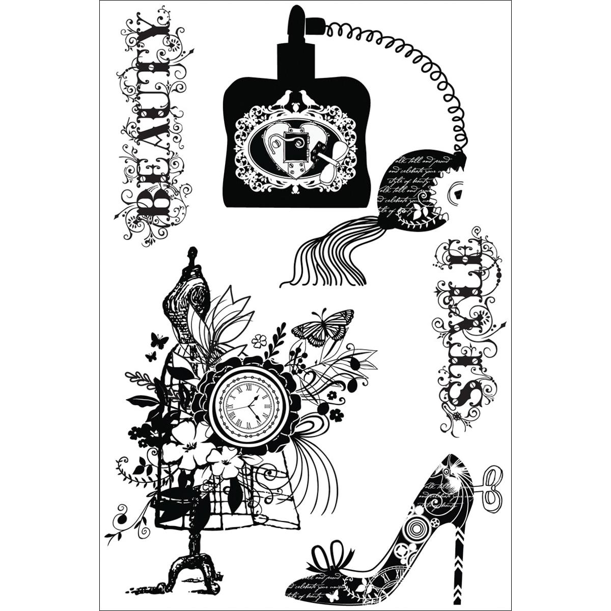 Cling Stamp 4x6-La Femme