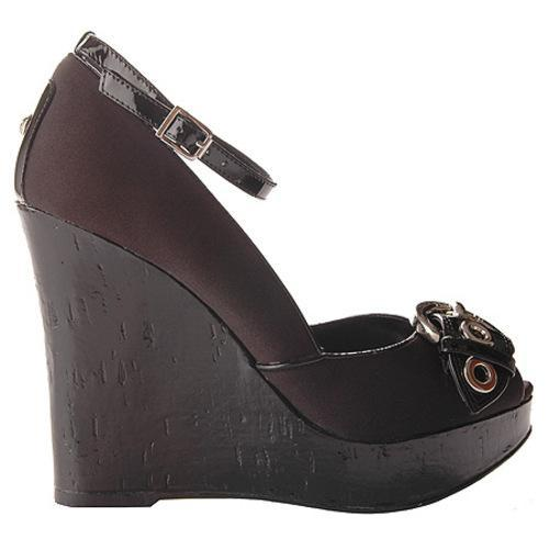 BCBGirls Women's Ramos Black Fabric/Patent