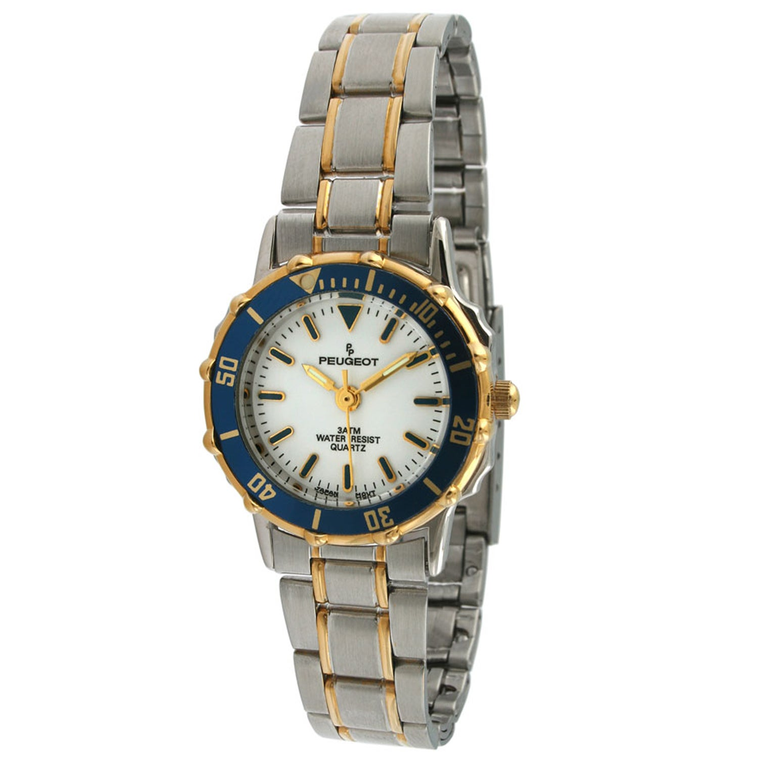 Peugeot Women's Blue Bezel Two-tone Watch