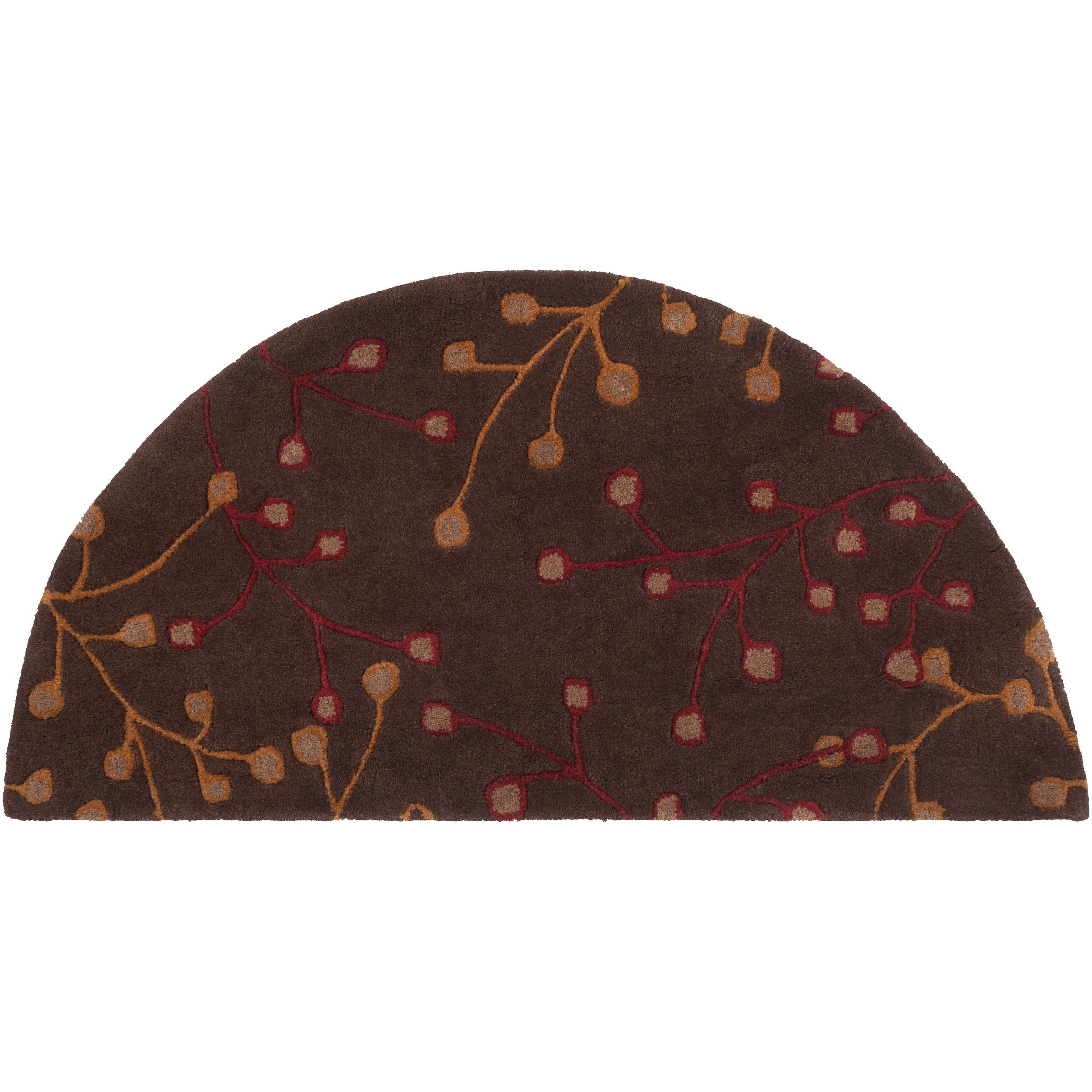 Hand-tufted Fawaris Chocolate Wool Rug (2' x 4' Hearth)