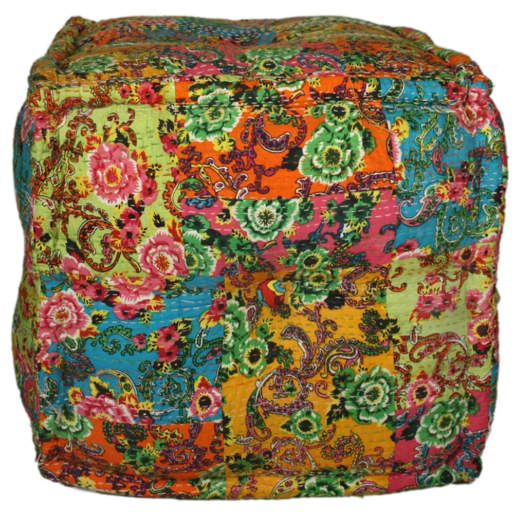 Handmade Casual Living Multi Cube Pouf