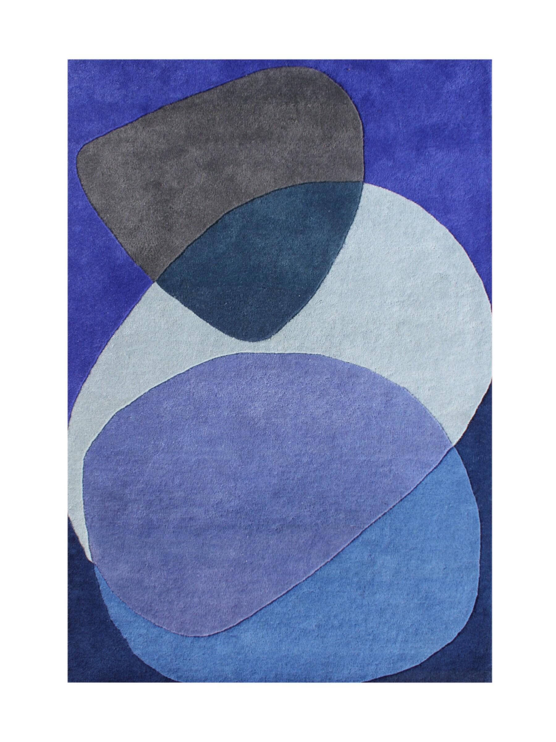 Alliyah Handmade Dazzling Blue Blue New Zealand Blend Wool Rug (5' x 8')