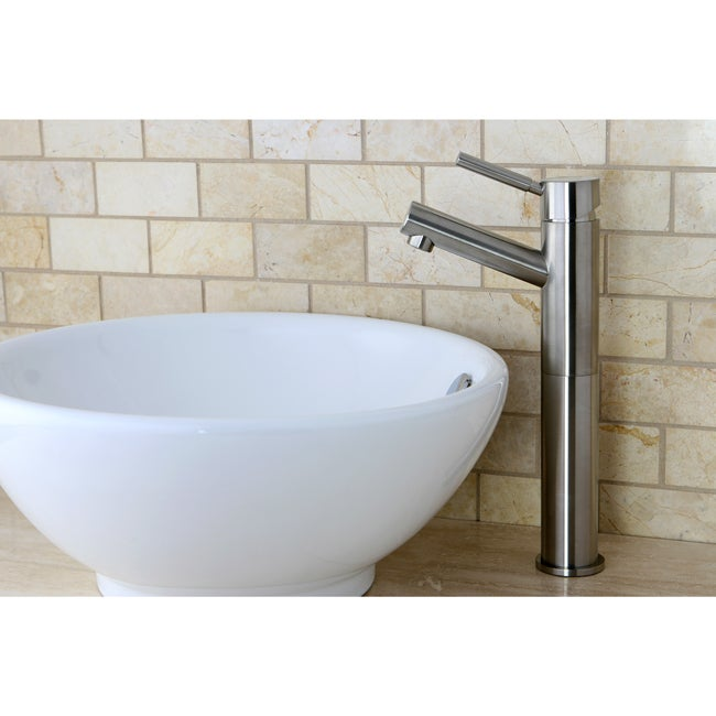 Satin Nickel Faucet and Vitreous China Sink