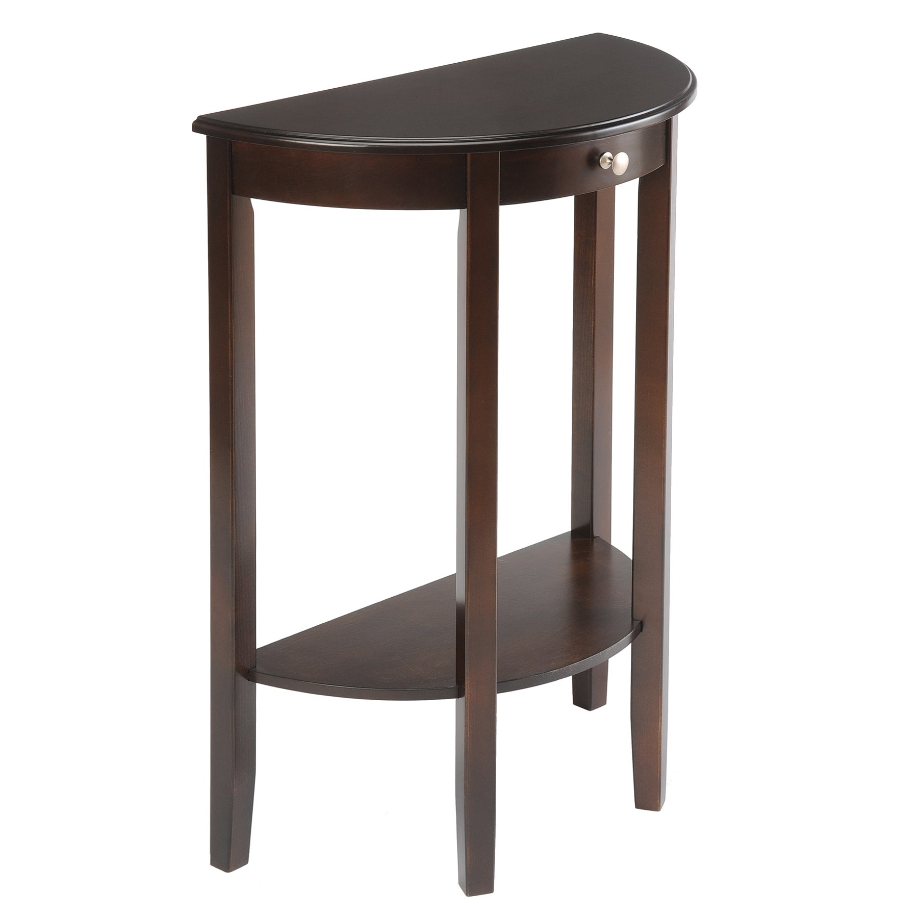Semi circle coffee sofa end tables affordable accent tables - Half table entryway ...