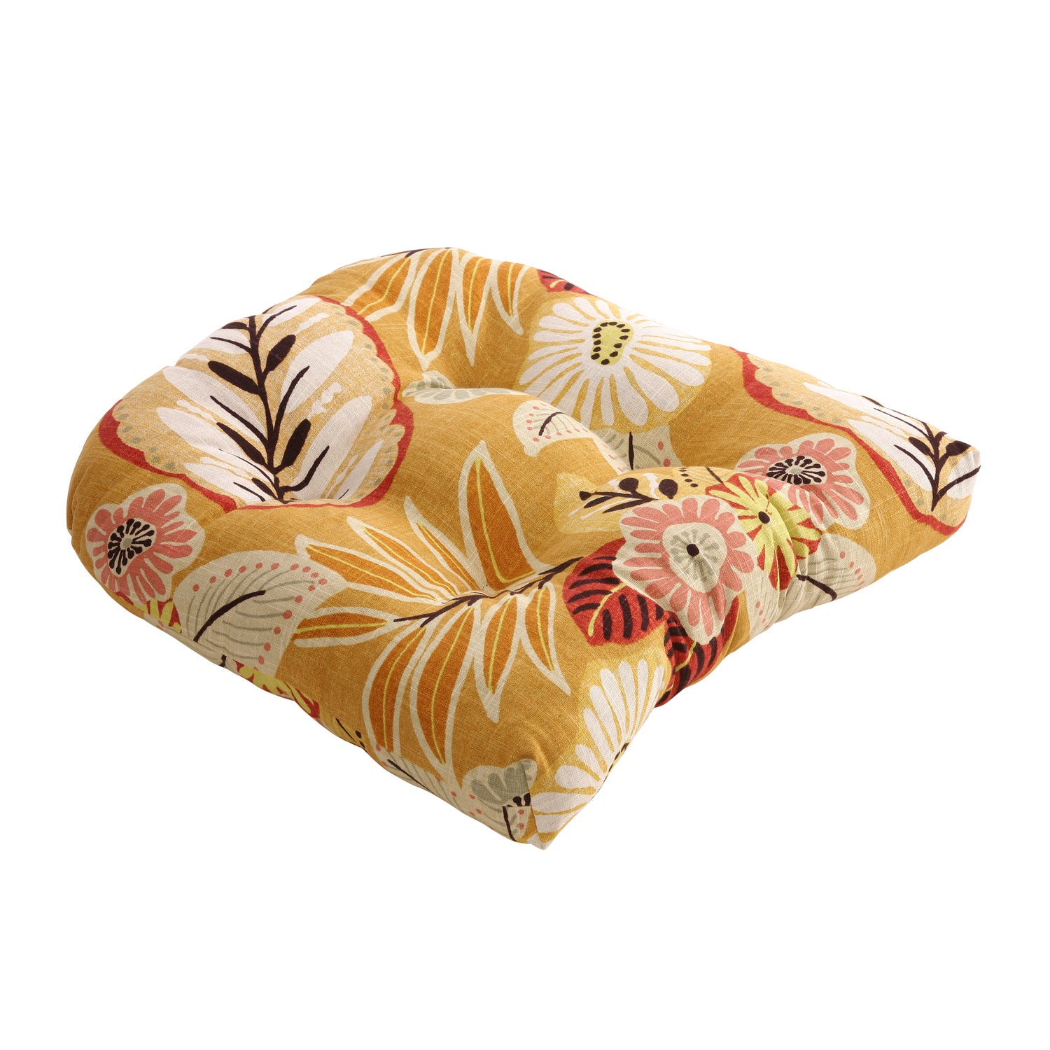 Gold Tropical Chair Cushion