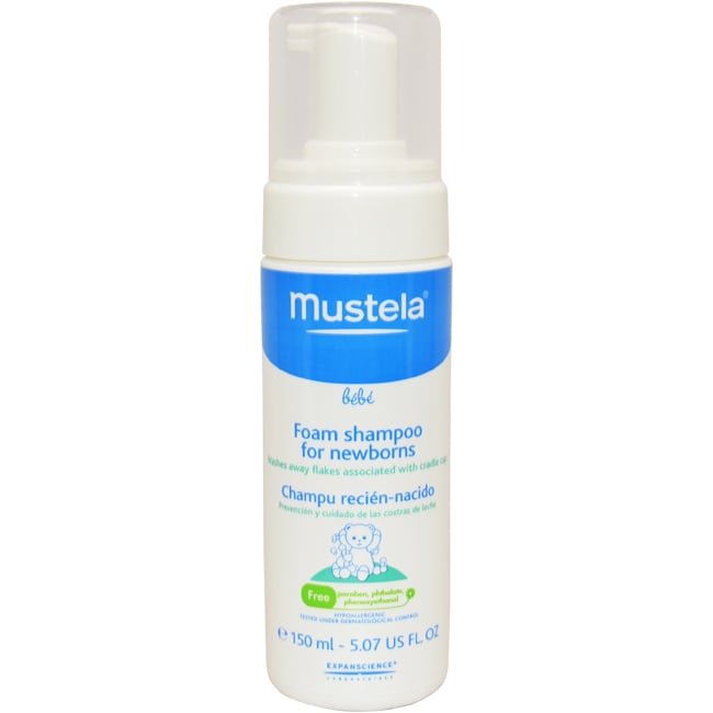 Mustela 5.07-ounce Mild Foam Shampoo Formulated for Newborns