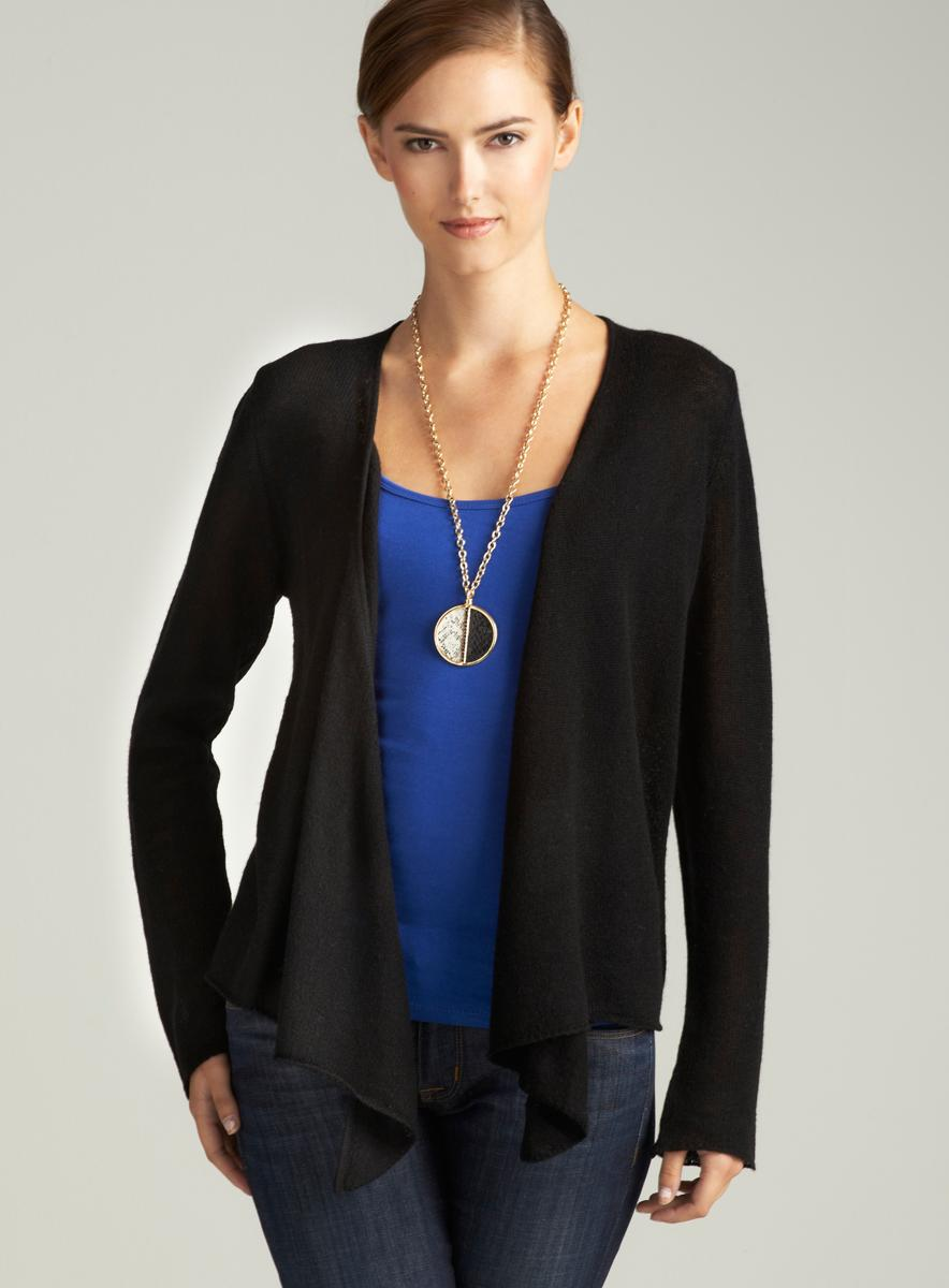 Evelyn Cashmere Cashmere Open Front Cardigan