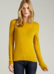 Evelyn Cashmere Daisy Yellow Cashmere Pullover