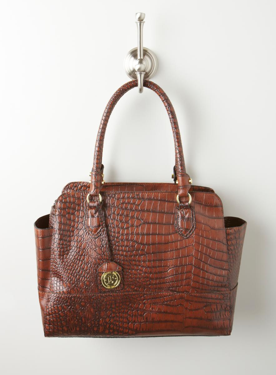 London Fog Norton Clrb Croc E/W Tote