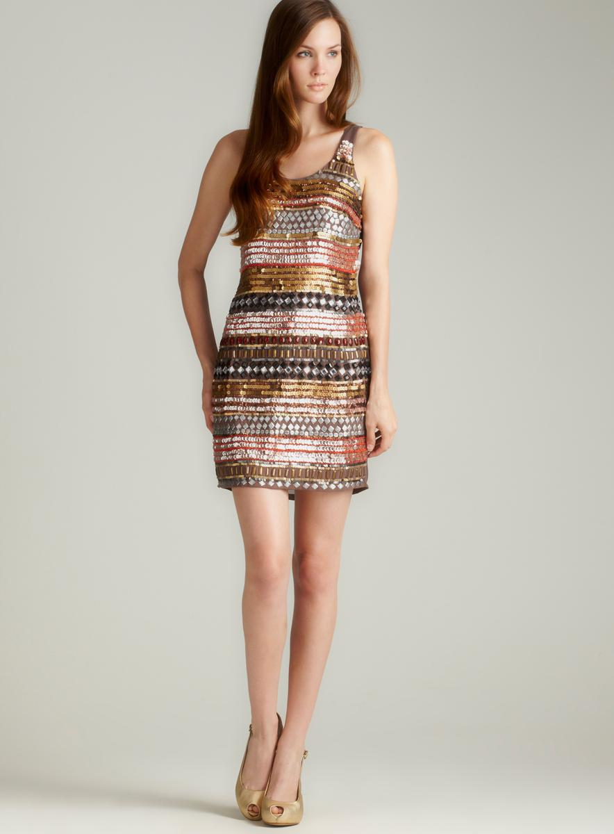 Romeo & Juliet Couture Multi Sequined Tank Dress
