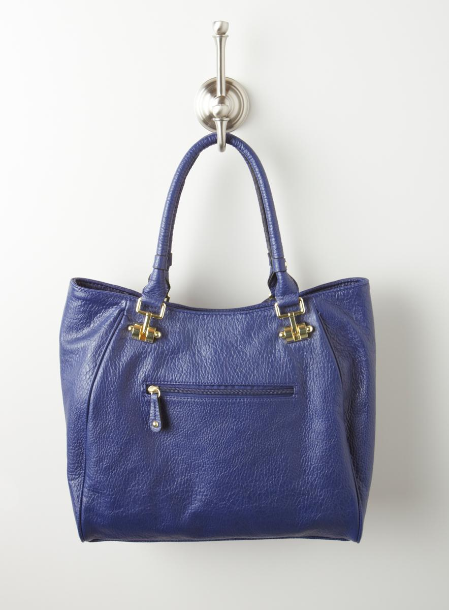 London Fog Radnor Solid Pebble Tote