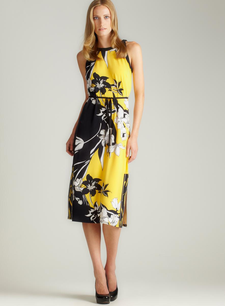 T. Tahari Bari Matte Jersey Dress