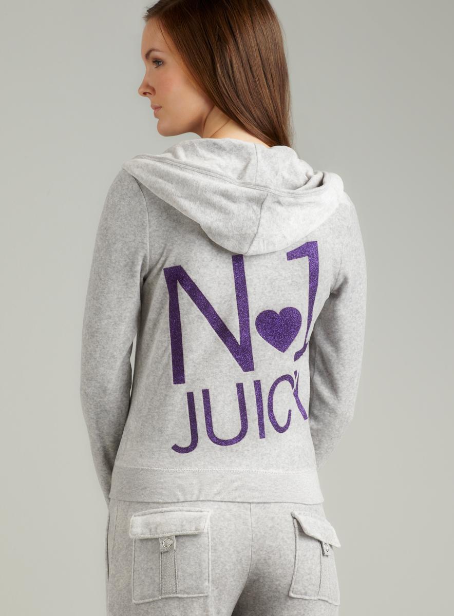 Juicy Couture L/S Hoodie With No. 1 Juicy