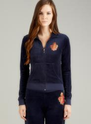 Juicy Couture L/S Track Jacket With Fleur De Lys