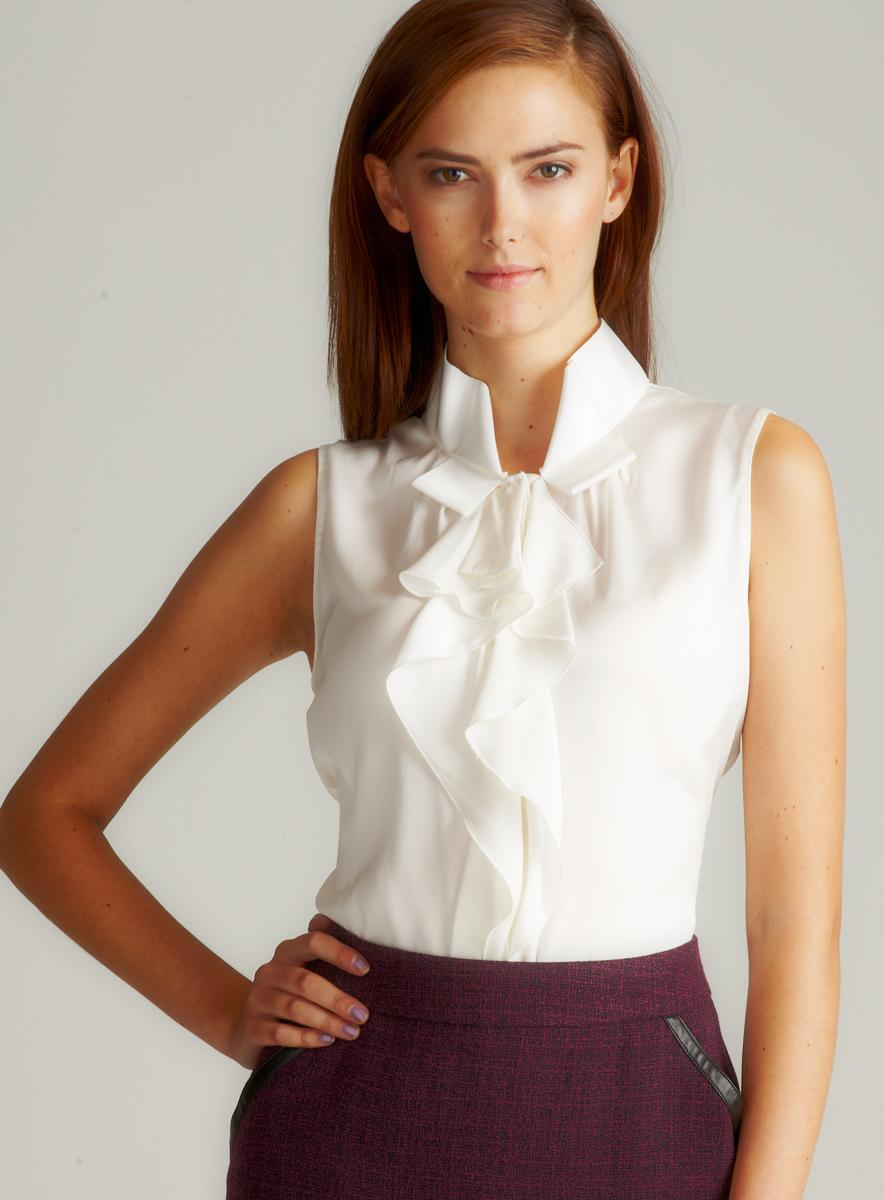 Elie Tahari Lilly Ruffle Str Ggt Blouse