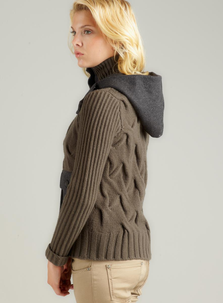 Massimo Rebecchi Wool Sweater With Hood
