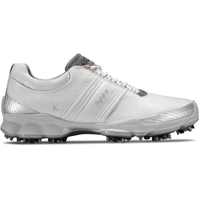 Ecco Men's White / Concrete BIOM Golf Shoes