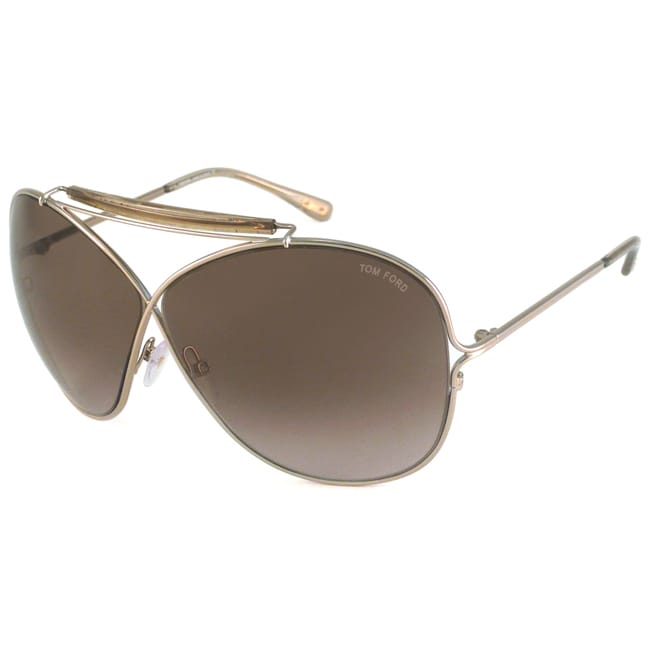 Tom Ford Women's TF0200 Catherine Gold/Brown Oversize Sunglasses