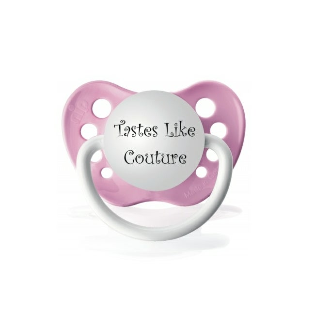 Personalized Pacifiers Tastes Like Couture Pacifier in Pink