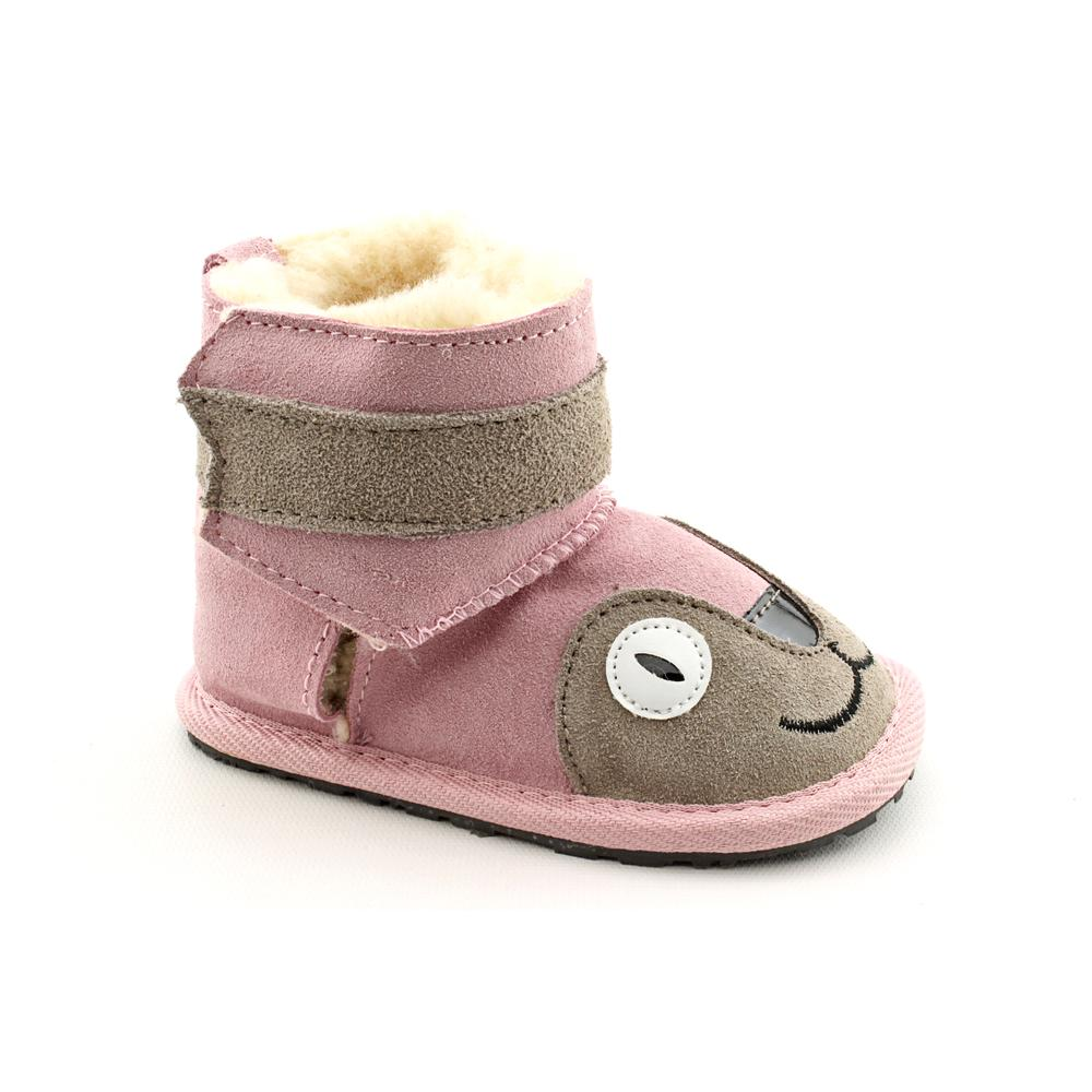 Emu Australia Girl's 'Little Creatures Walkers - Kitty' Regular Suede Boots