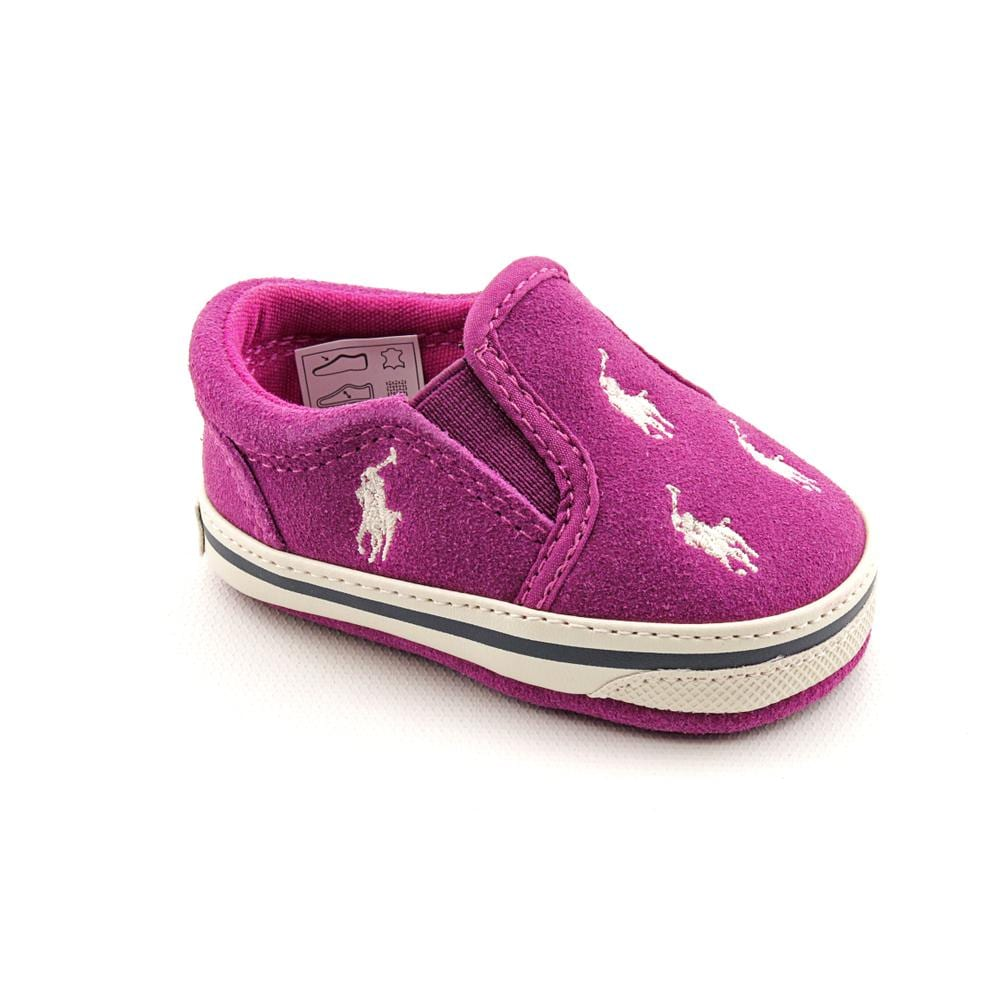 Ralph Lauren Layette Girl's 'Bal Harbour Repeat' Regular Suede Casual Shoes