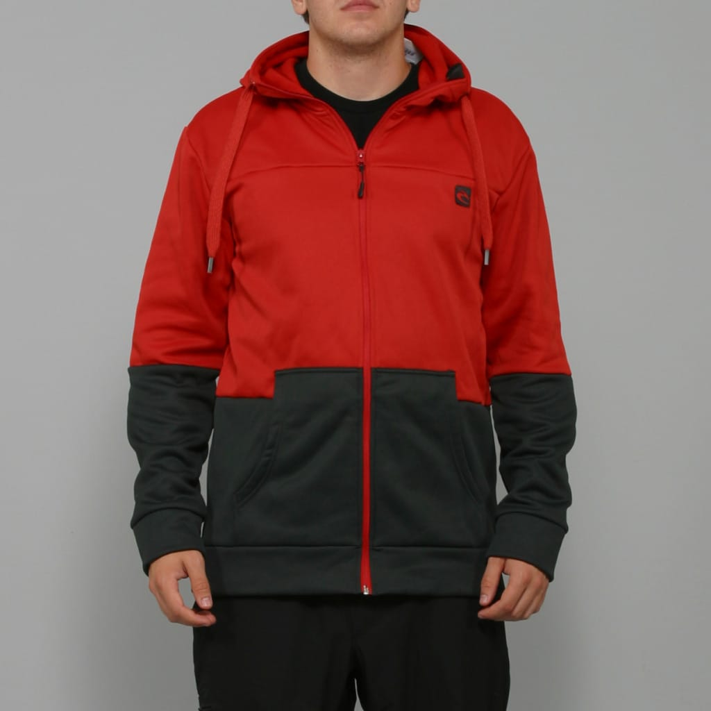 Rip Curl Men&#39;s &#39;Centerfold&#39; Dark Red Fleece Hoodie Jacket