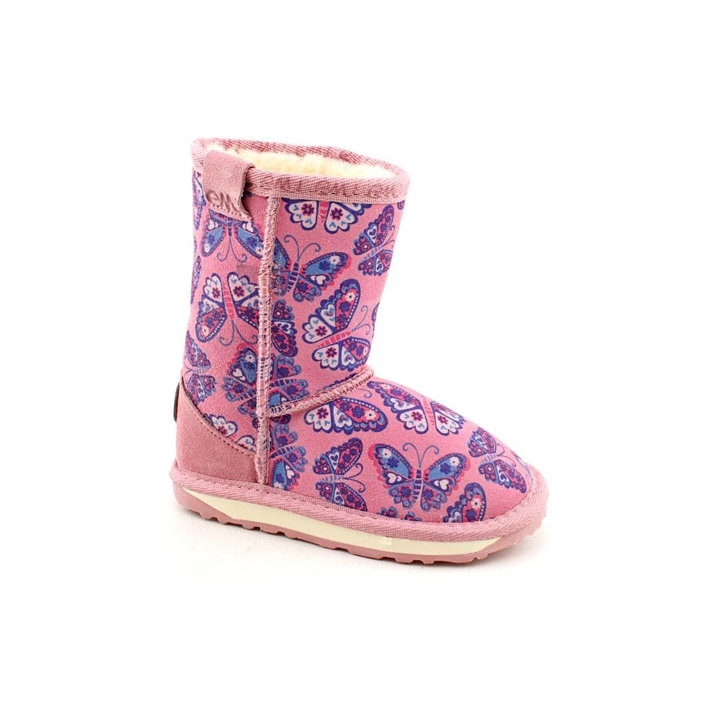 Emu Australia Girl's 'Wallaby Printed' Regular Suede Boots