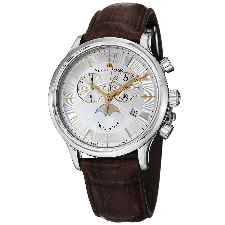 Maurice Lacroix Men's 'Les Classiques' Chronograph Brown Strap Watch