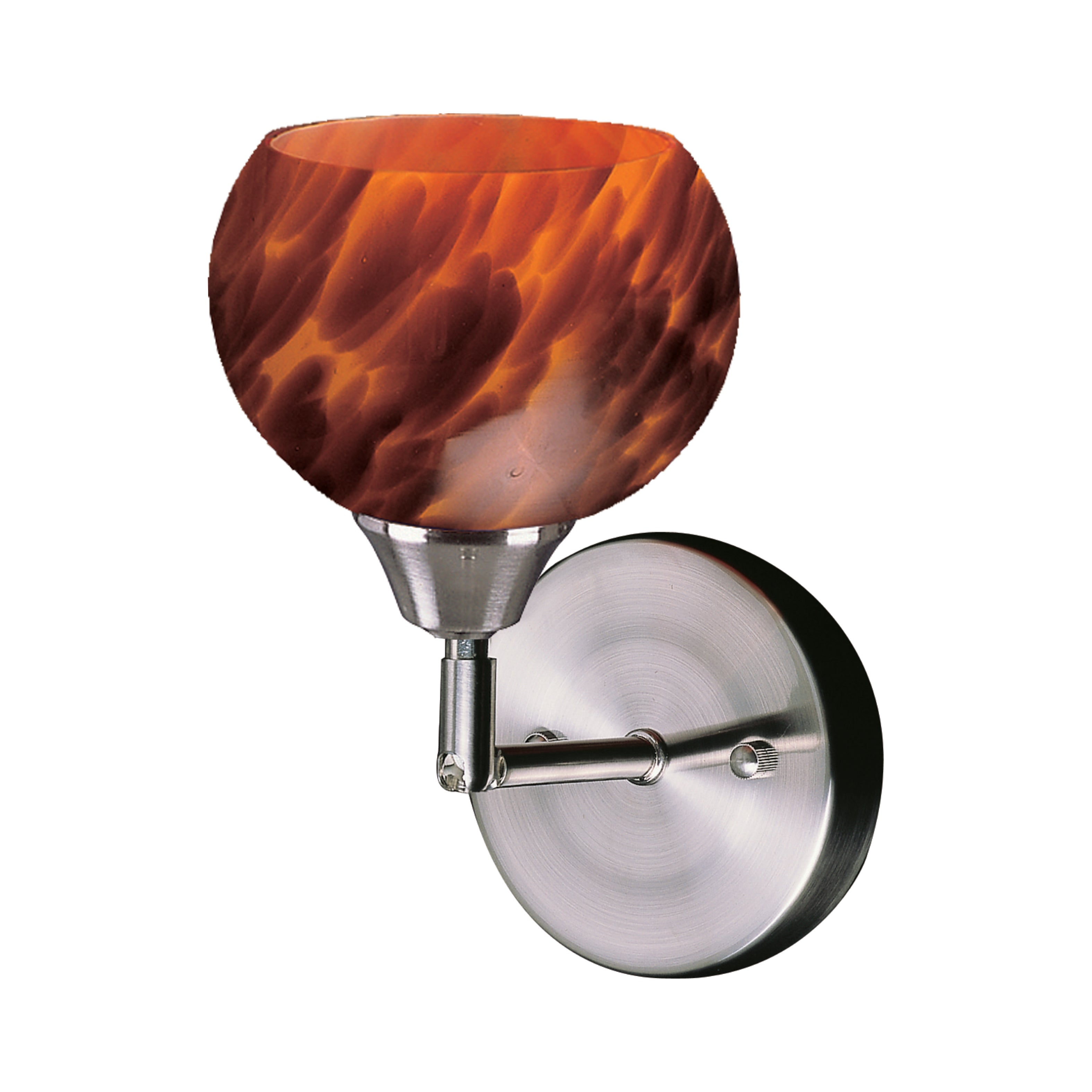 Elk Lighting Mela Collection Espresso Glass Wall Sconce