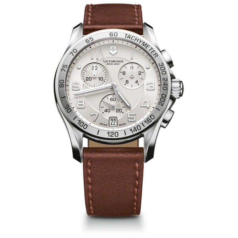 Swiss Army Men's Chrono Classic Silver Dial Watch