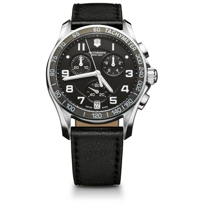 Swiss Army Men's Chrono Classic Black Dial Watch