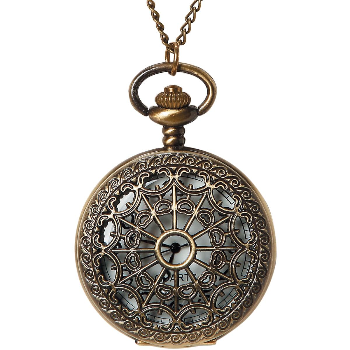 Pocket Watch 1/Pkg-Bronze Large Filigree Lid