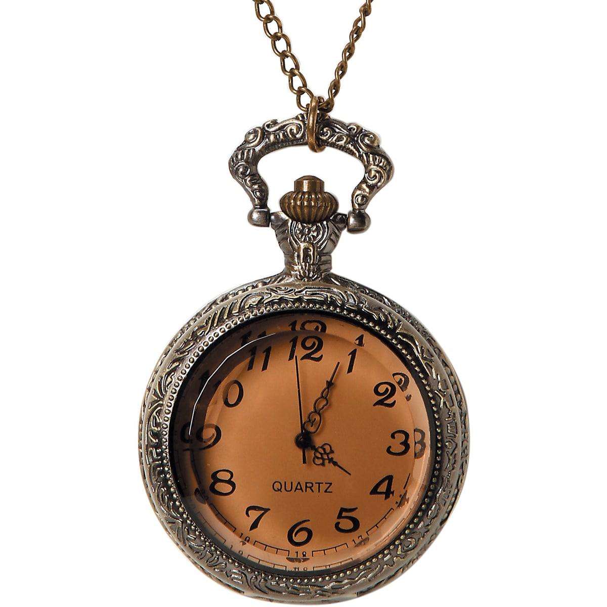 Pocket Watch 1/Pkg-Bronze Large Beveled Glass
