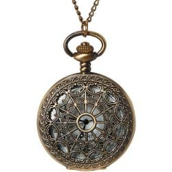 Pocket Watch 1/Pkg-Bronze Large Filigree Lid