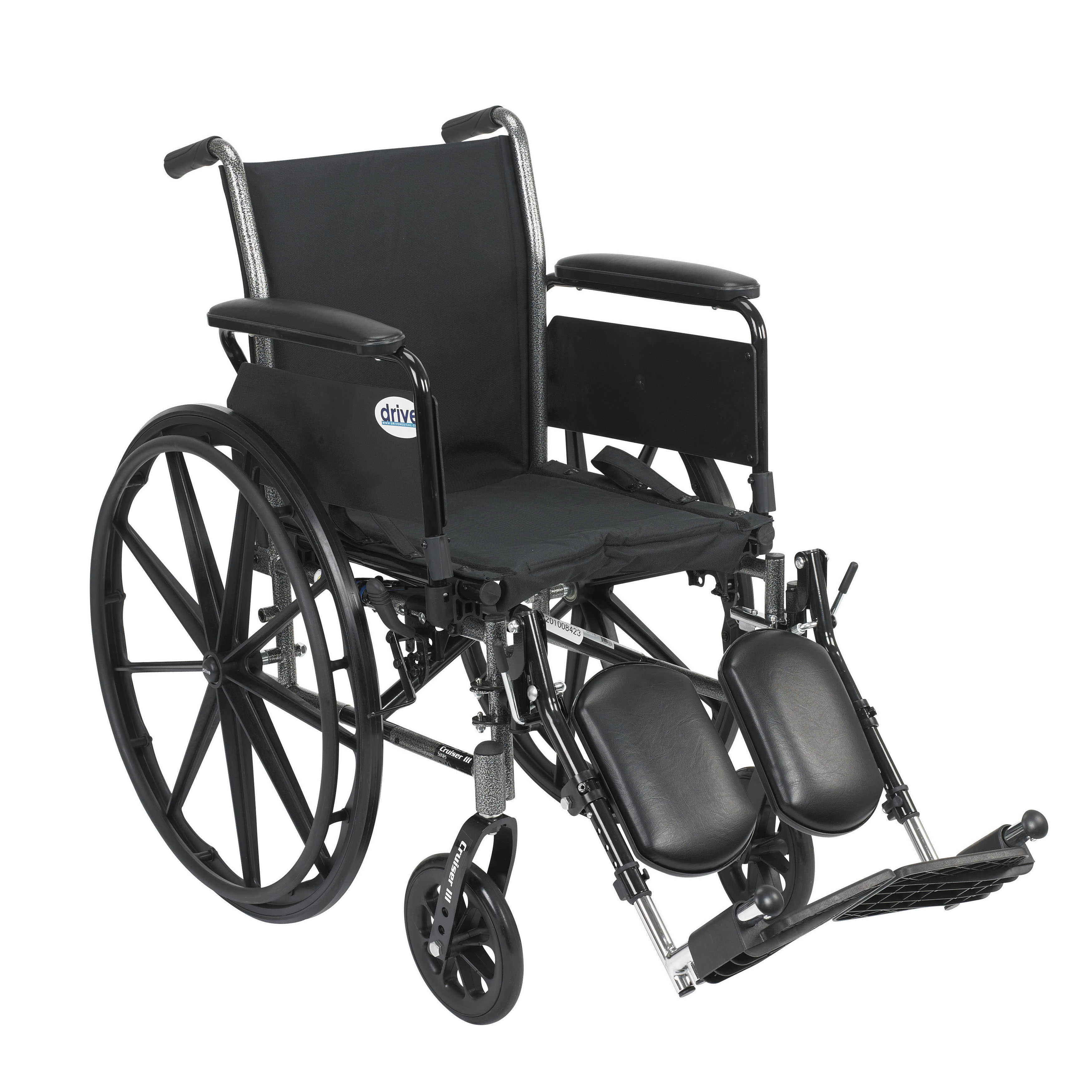 Cruiser III Light Weight Wheelchair with Flip Back Arm Styles and