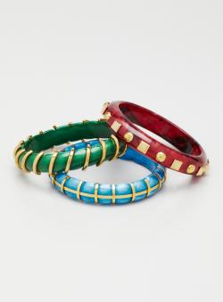 D & G Set Of 3 Bangle Bracelets
