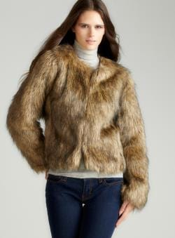 Adam Long Sleeve Cropped Fur Jacket