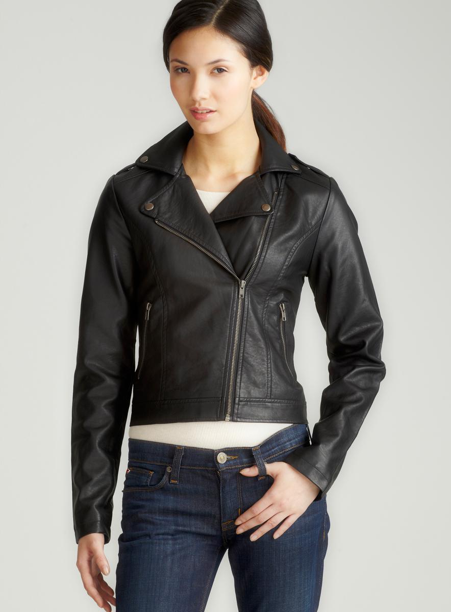 JJ Winter Side Zip Faux Leather Jacket