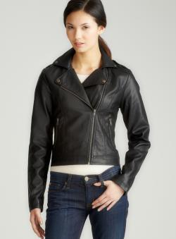 JJ Winter Side Zip Faux Leather Jacket